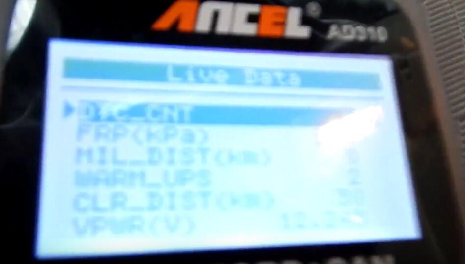 Ancel AD310 Scanner View on Chevrolet Silverado (12)