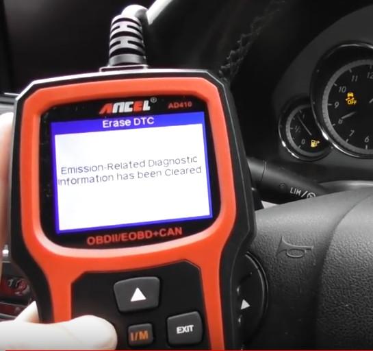 Ancel AD410 Reset Mercedes Benz Check Engine Light ON (11)