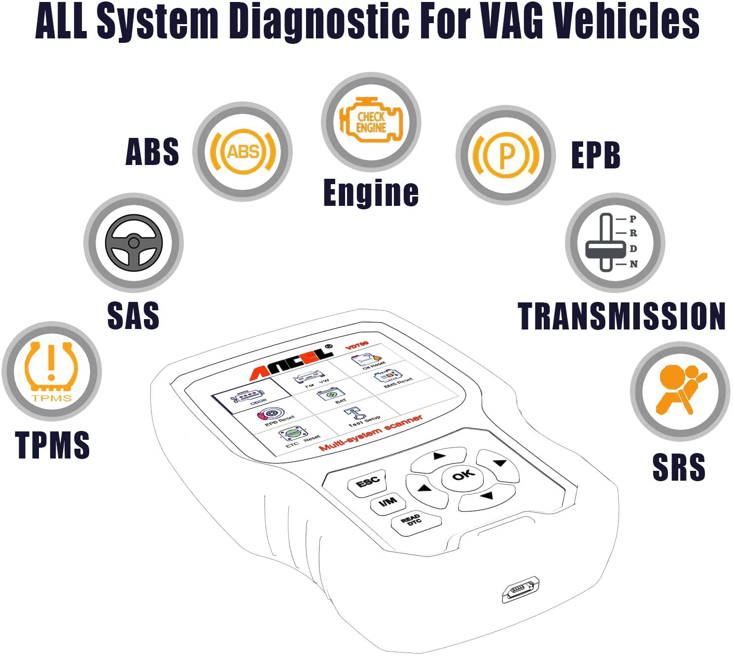 ANCEL VD700 Full System Diagnostic Tool (3)